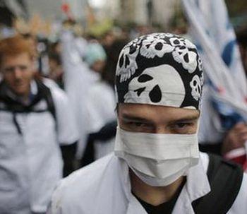 Rencontre entre les internes et chefs de clinique en grève et Marisol Touraine