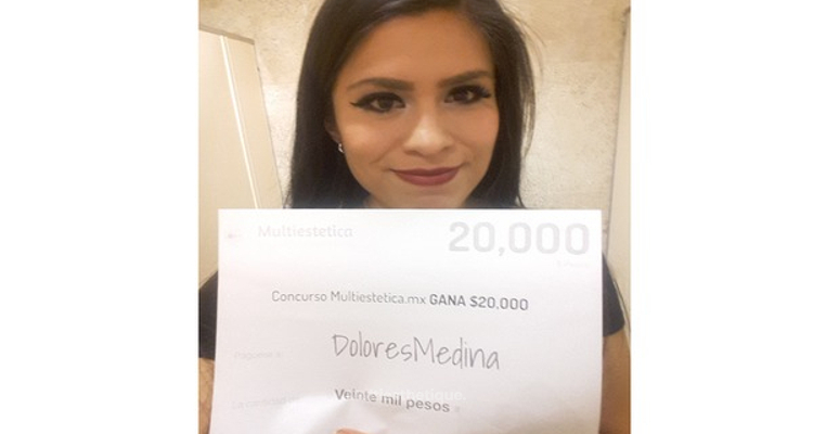 Gagnante du tirage au sort : DoloresMedina, chanceuse du mois d'Août