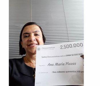 Anna María Plazas est la nouvelle gagnante du mois de Juillet !