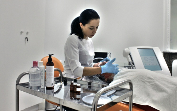 Suite du traitement de microdermabrasion