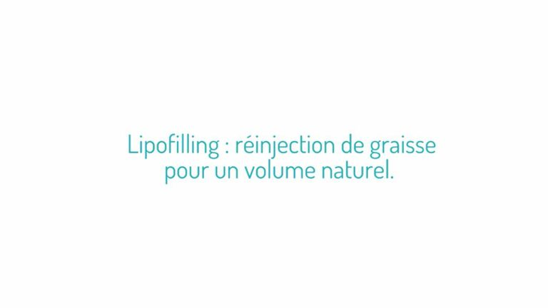 Lipofilling: réinjection de graisse pour un volume naturel.
